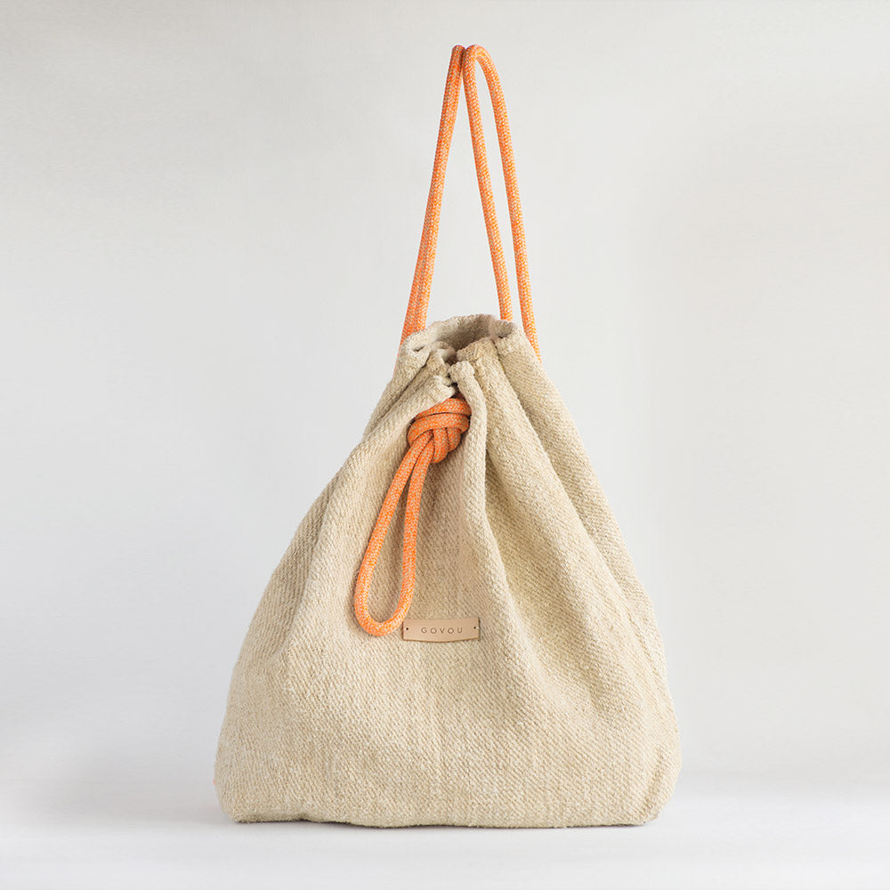 Back - Pack handcrafted  from a 100 years old grain sack in Barcelona