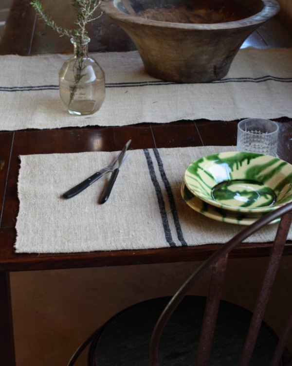 Hemp & Linen Table placement
