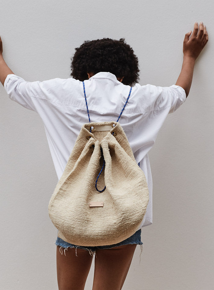 Back - Pack handcrafted  from a 100 years old hemp grain sack in Barcelona