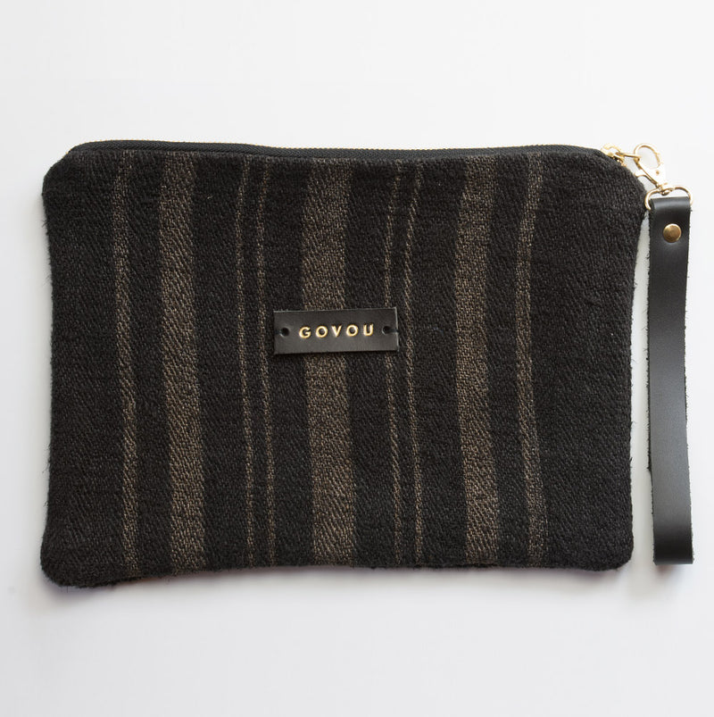 Double Striped Clutch