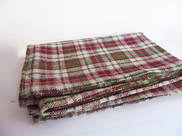Green &  Orange Vintage Wool Throw