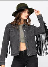 Vaughn Fringe Denim Jacket