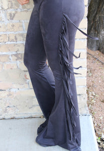 Midnight Fringe Bell Bottoms