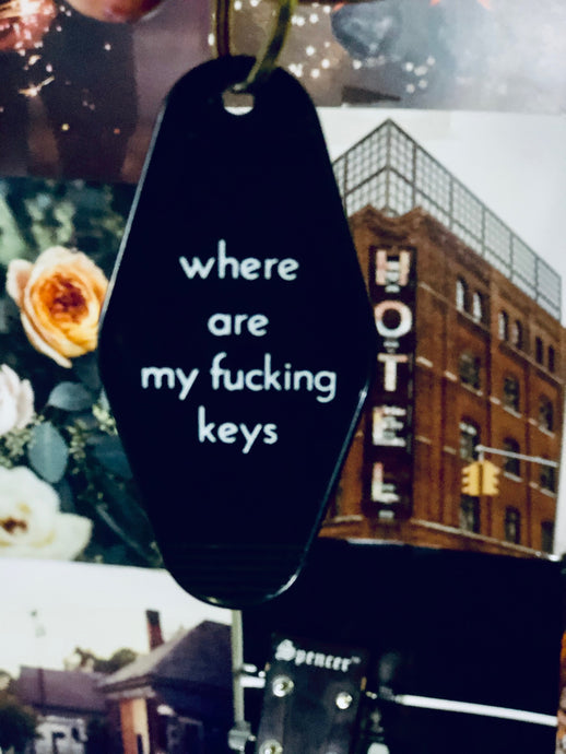 Motel Key Key chain