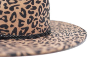 This is a must have!  Structured wool felt Leopard fedora