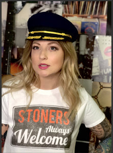 Stoners Always Welcome vintage look crop top