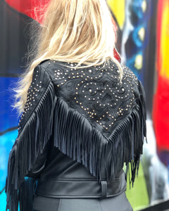 Midnight Rider Fringe Moto Jacket
