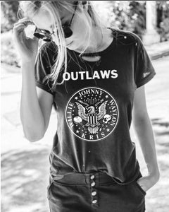 Outlaws Distressed Tee