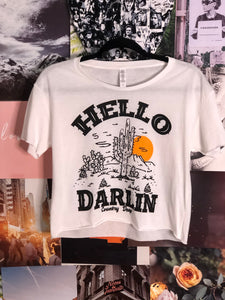 Hello Darlin Cropped Tee