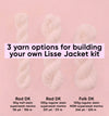INFORMATION ONLY •  yarn base options for Lisse  •  read before building a preorder