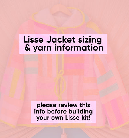 INFORMATION ONLY •  Lisse sizing & yardage guide • read before building a preorder