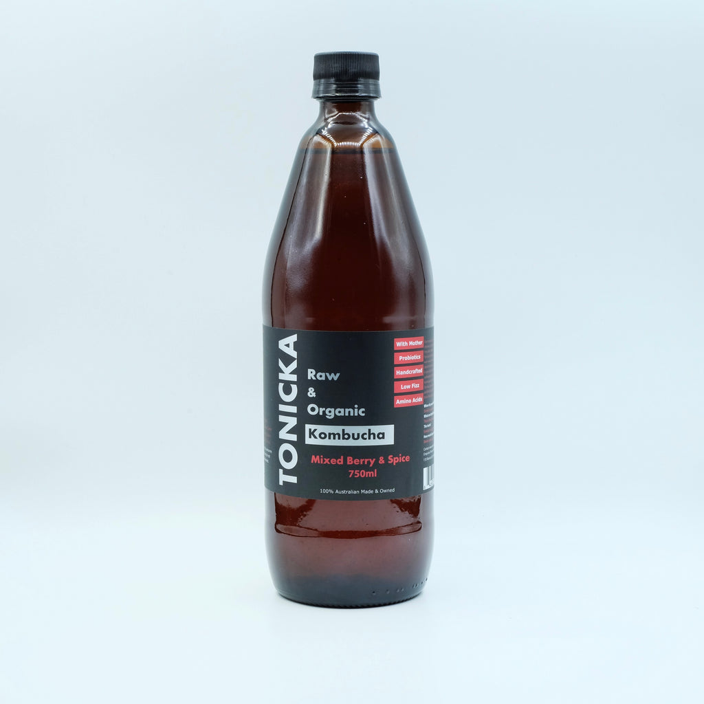 Mixed Berry & Spice Kombucha (750mL Bottle)