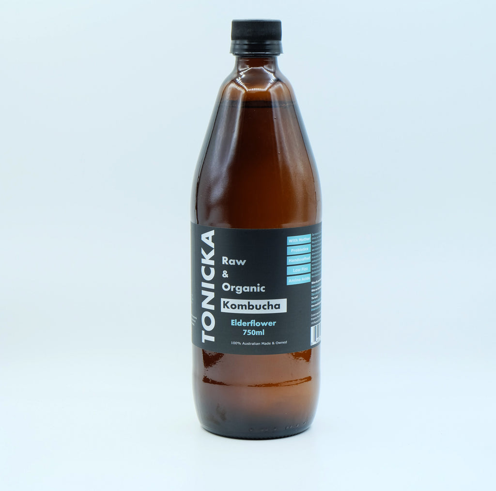 Elderflower Kombucha (750mL Bottle)