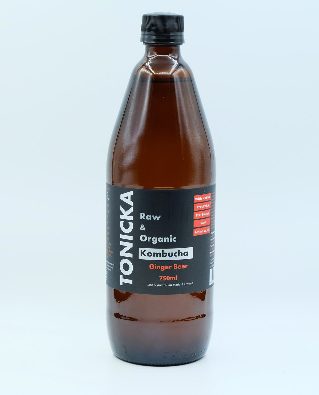 Ginger Beer Kombucha (750mL Bottle)