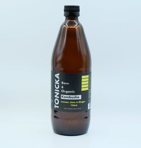 Lemon, Lime & Ginger Kombucha (750mL Bottle)