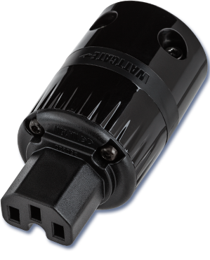 WATTGATE 320 EVO BLACK IEC 15A Power Connector Plug - Revolution Audio