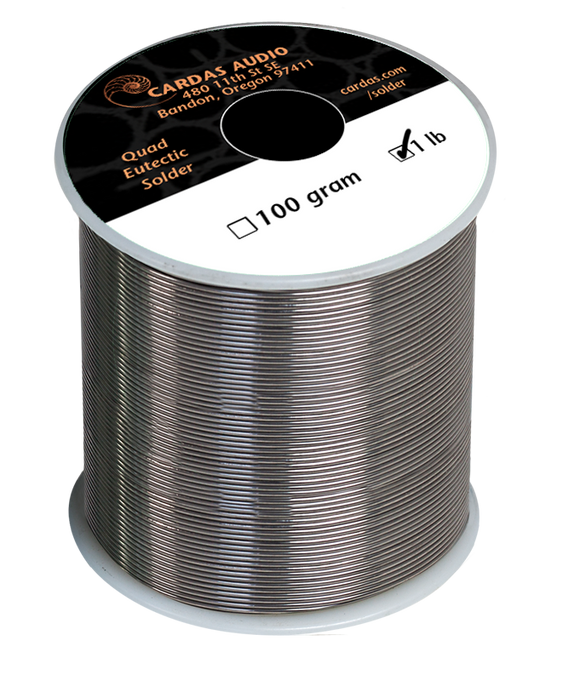 Cardas Audio Quad-Eutectic Silver Solder 1lb Roll - Revolution Audio
