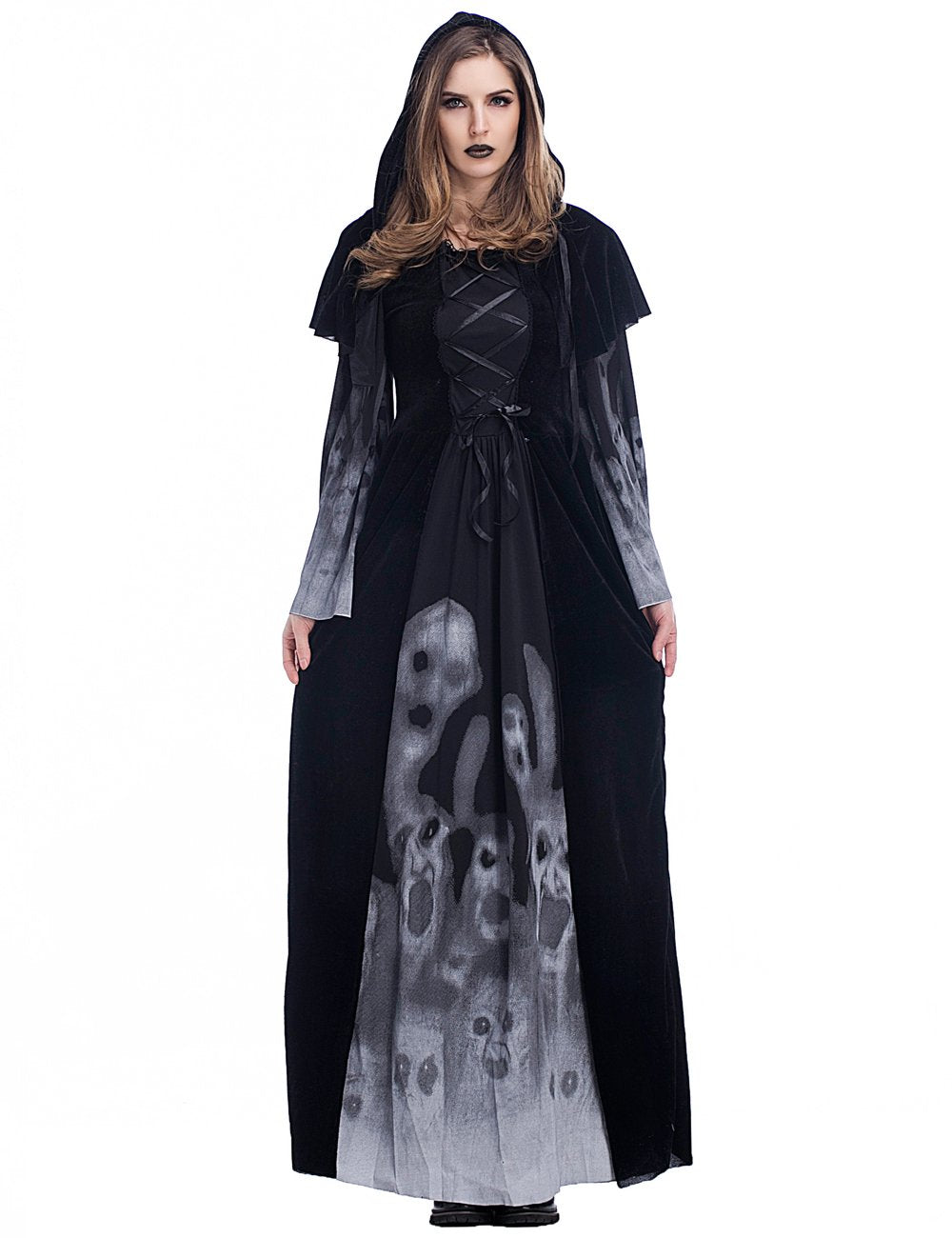 Halloween Party Europe Palace Cosplay Costumes Vampire Black Long ...