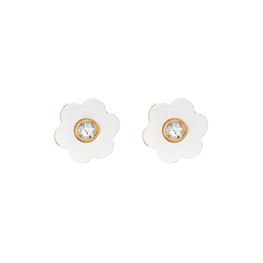 Garden Stud 14K Mother of Pearl