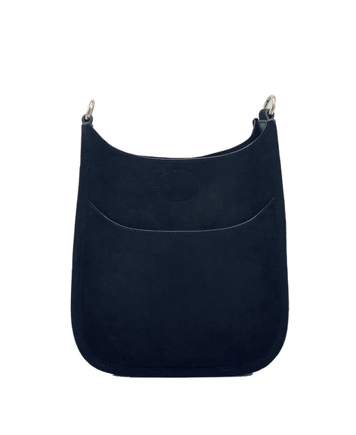 Black Faux Suede Mini Messenger-No Strap