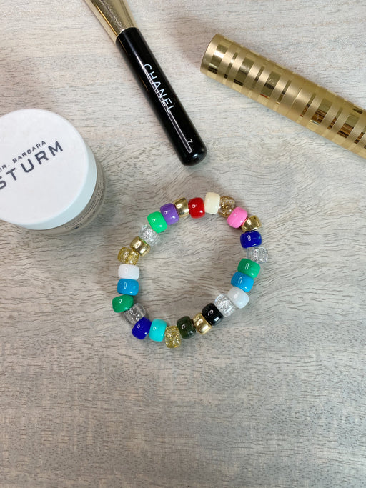 Colorful Beaded Bracelet Gold Filled