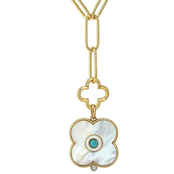 Evil Eye Charm Large Mother of Pearl