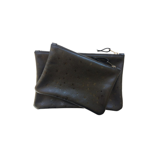Leather Pouchette Black Star Large