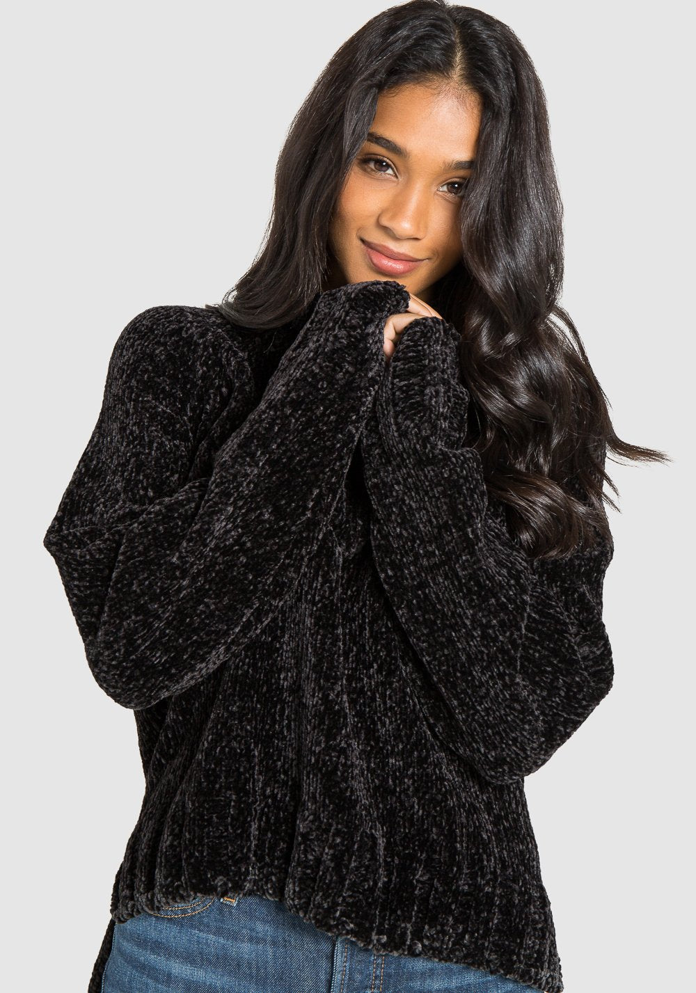 Turtle Neck Sweater Blk