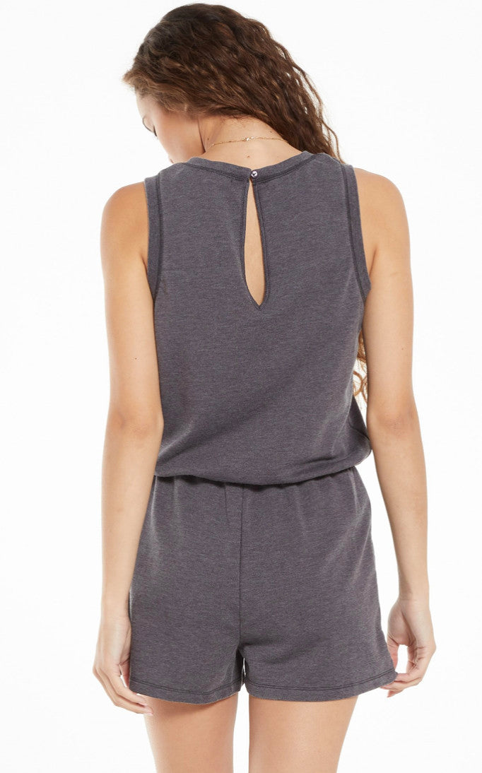 Adira Terry Romper Washed Black