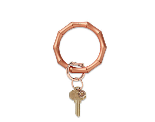 Big O Silicone Rose Gold Bamboo Key Ring