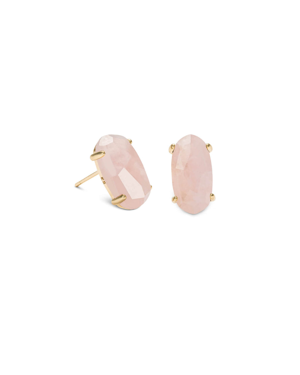 Betty Earring Gold Rose Quartz