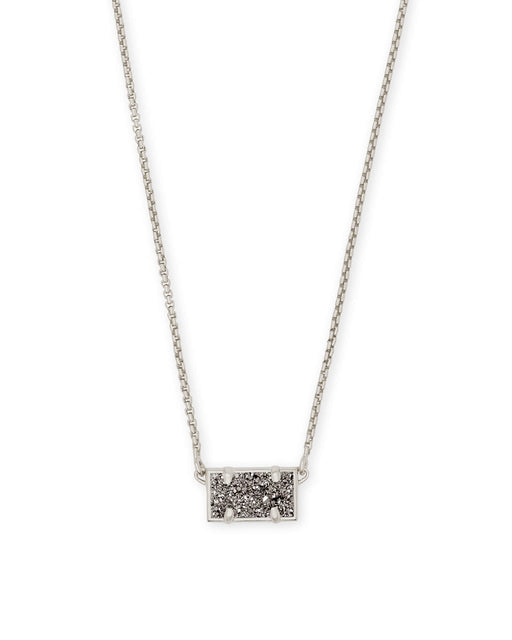 Pattie Necklace Rhod Plat.Drusy