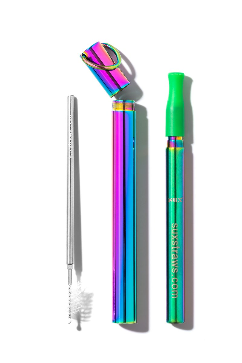 SUX Rainbow Reusable Straw