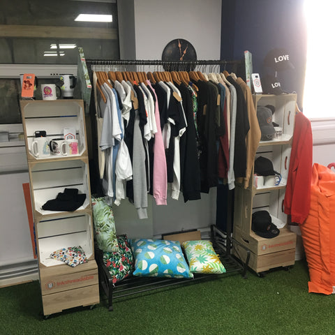 Inkthreadable range of clothing at their offices