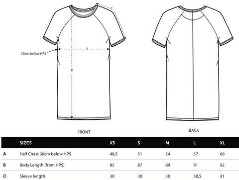 women's t-shirt dress size guide