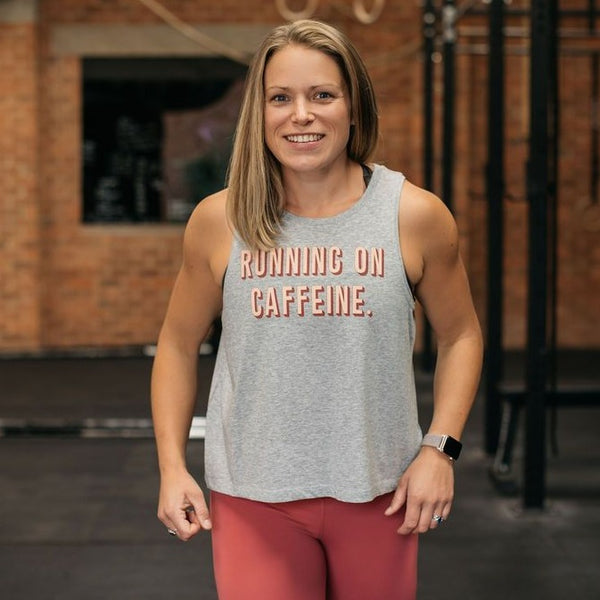 Running on Caffeine Cropped Vest Tank ☕