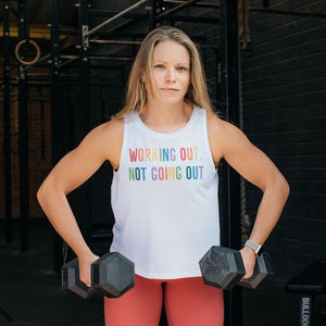 Working Out Not Going Out Cropped Tank 🌈