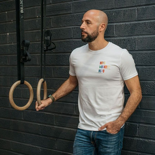 Home Workout Hero Embroidered Men's T-Shirt