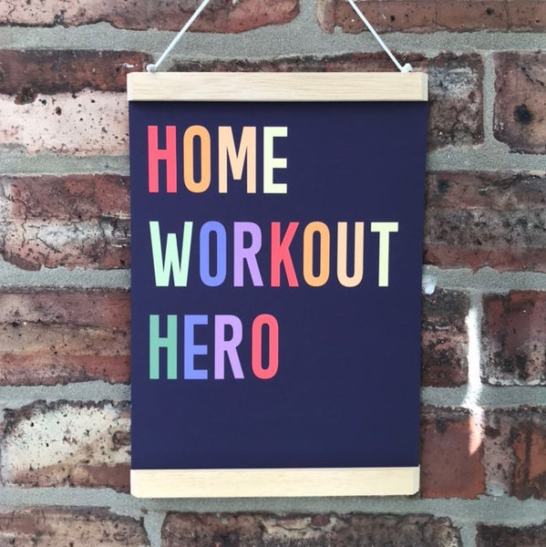 Home Workout Hero Art Print