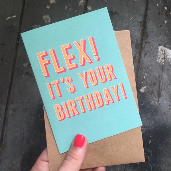 Flex! It's Your Birthday Greetings Card