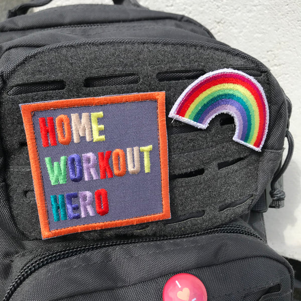 Home Workout Heroes - Set of 2 Embroidered Velcro Patches