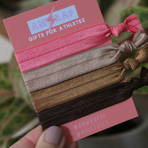 Hair Ties - Set of 4 (Coffee)