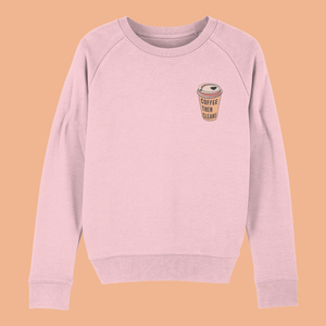 Coffee Then Cleans Embroidered Women's Sweatshirt ☕