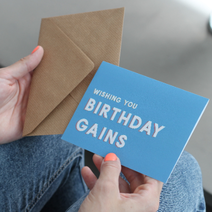 Wishing You Birthday Gains Greetings Card