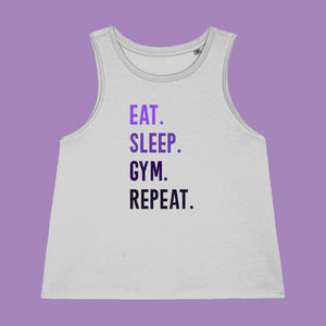 Eat Sleep Gym Repeat Workout Vest