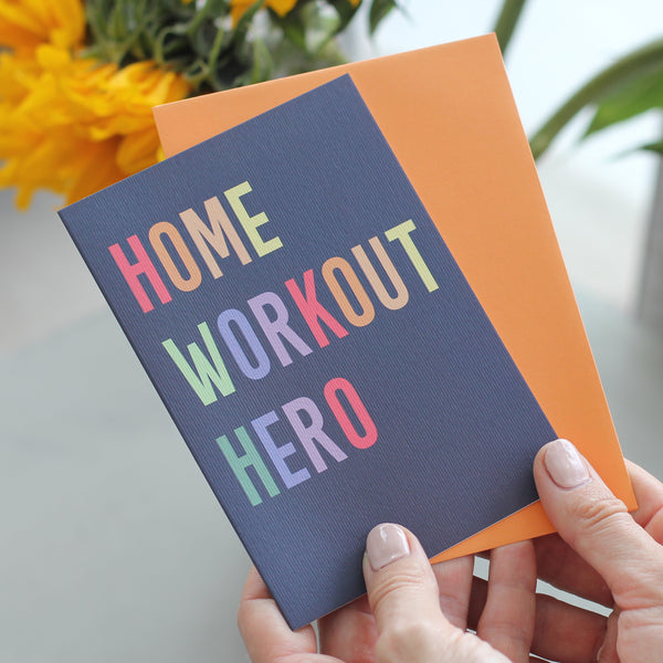 Home Workout Hero Greetings Card