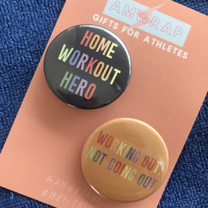 Home Workout Heroes - Set of 2 Fitness Themed Badges
