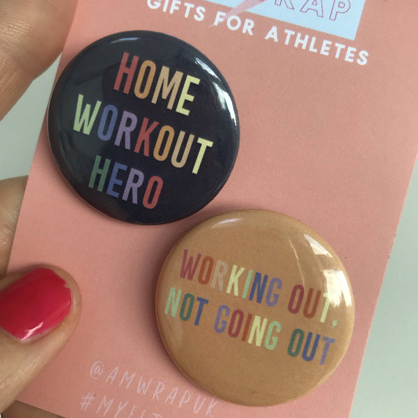 Home Workout Heroes - Set of 2 Badges