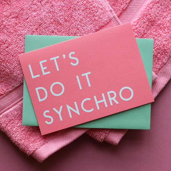 Let's Do It Synchro Greetings Card