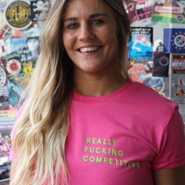 Really Fucking Competitive Women's Boyfriend Fit T-Shirt